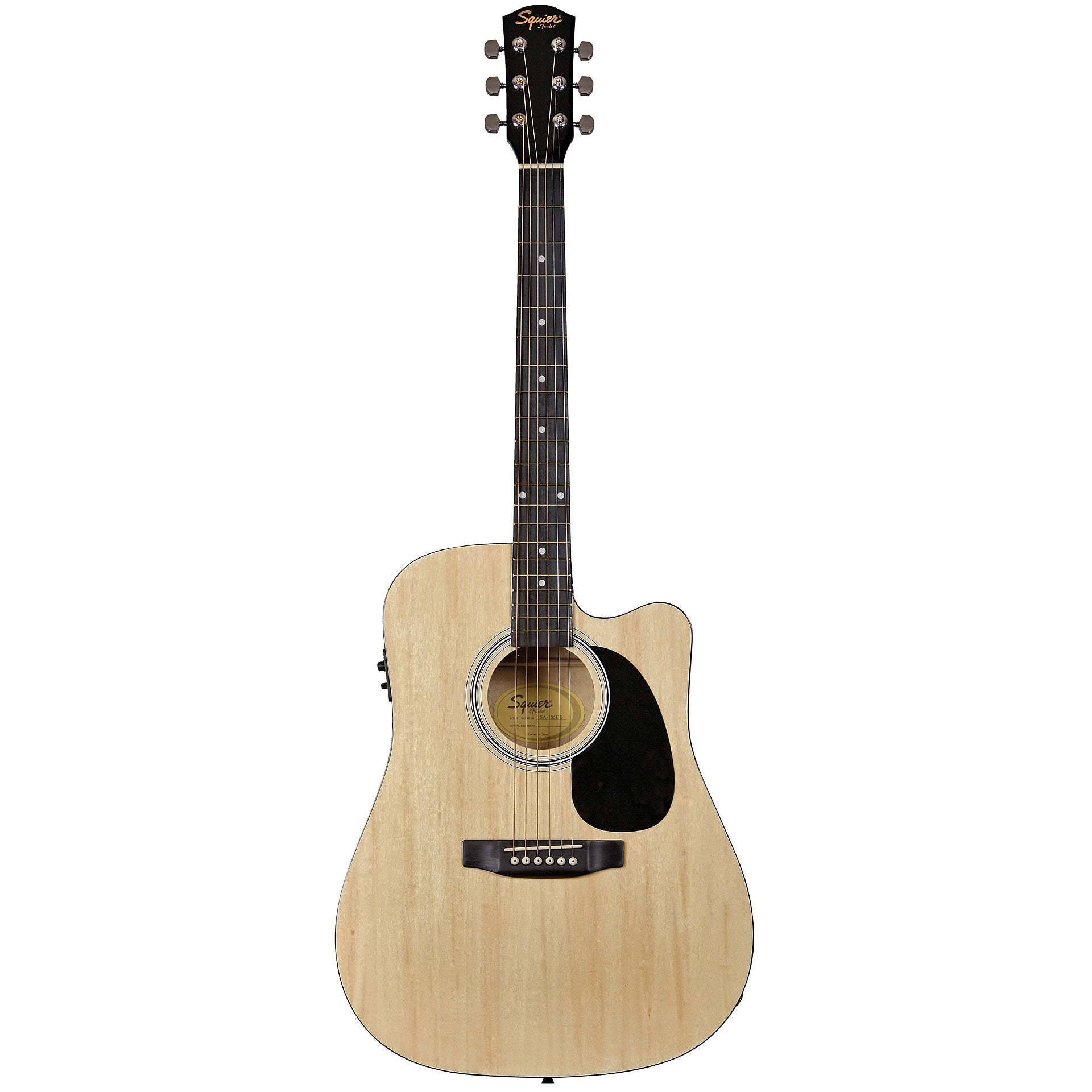 Fender Squier SA-105CE Dreadnought Acoustic with Cutaway - Natural