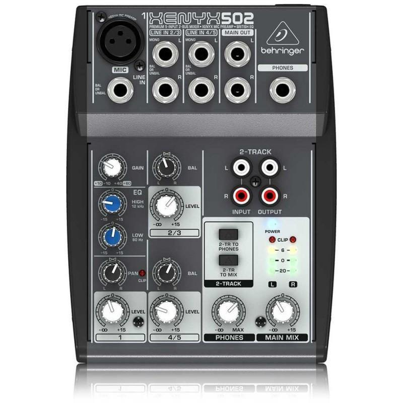 Behringer Xenyx 502FX 5-Input Analog Mixer with Effects