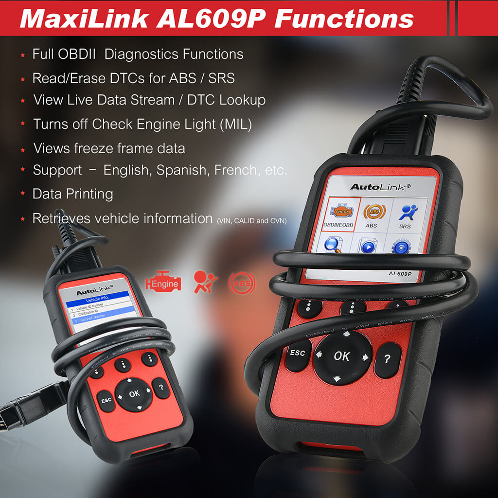 autel al609p full functions