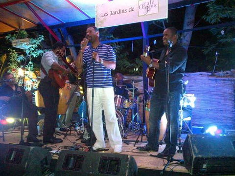 Zemira Israel's dad singing with band