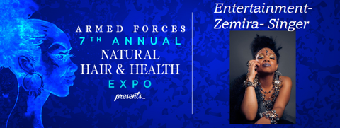 Zemira Israel performance at the 7th Annual Armed Forces Natural Hair & Health Expo