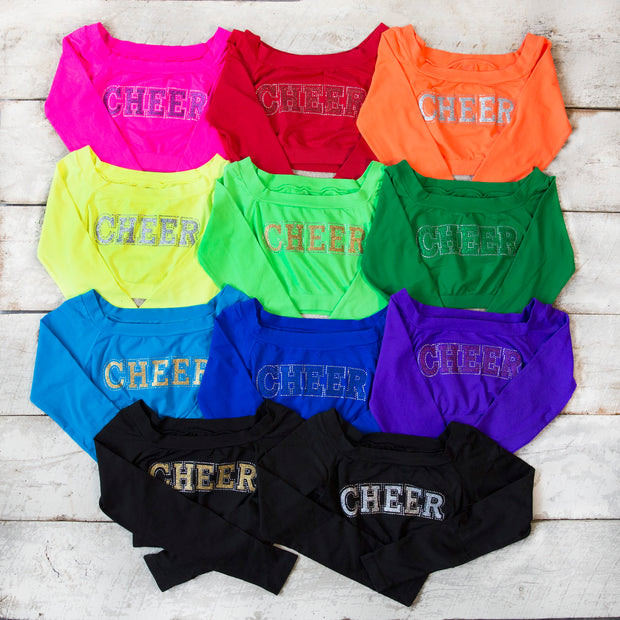 CHEER LS Cropped Tops for Senior