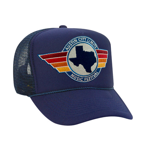 Aviator Nation Foam Trucker in Navy