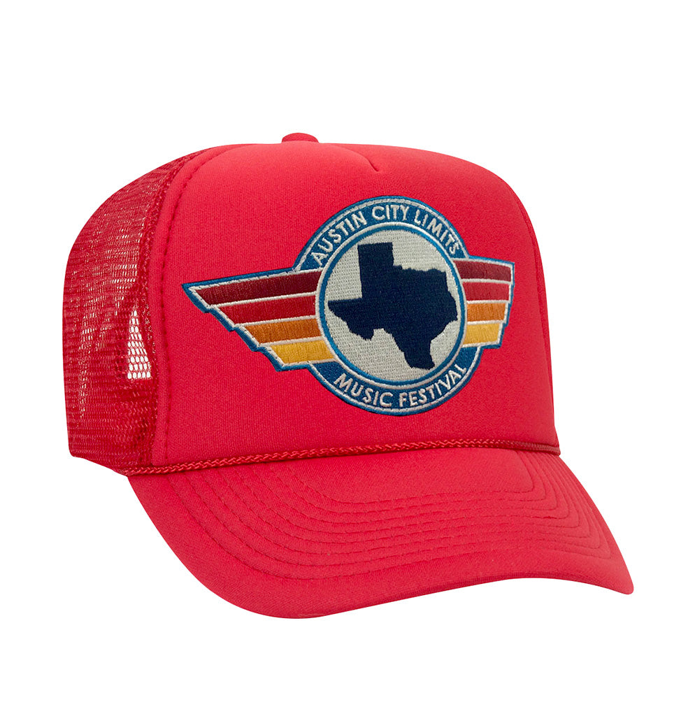 Aviator Nation Foam Trucker in Red