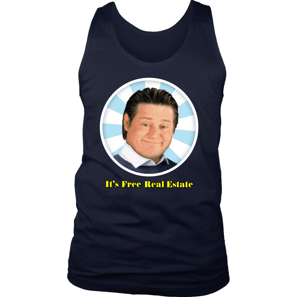 FREE REAL ESTATE | Mens Tank - Meme-Based Apparel & Merch by Dank Swankitude - Shirts, Hats, Mugs, Pillows, & More