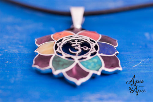 sacred lotus flower symbol pendant necklace
