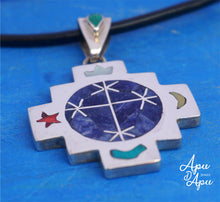 Load image into Gallery viewer, pendant for starseed people, pleiades symbol