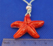 Load image into Gallery viewer, star-fish-red-color-on-cord