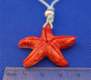 star-fish-red-color-on-cord