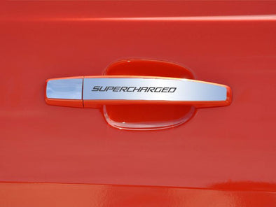 "2010-2013 Camaro - Door Handle Plate Polished Exterior ""SUPERCHARGED"" 