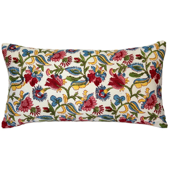 Gypsy Summer Floral Throw pillow 12x24