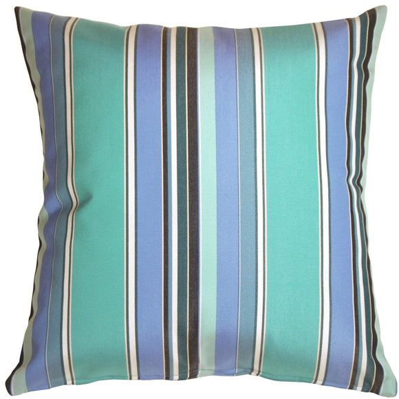 Sunbrella Dolce Oasis Stripes 20x20 Outdoor Pillow