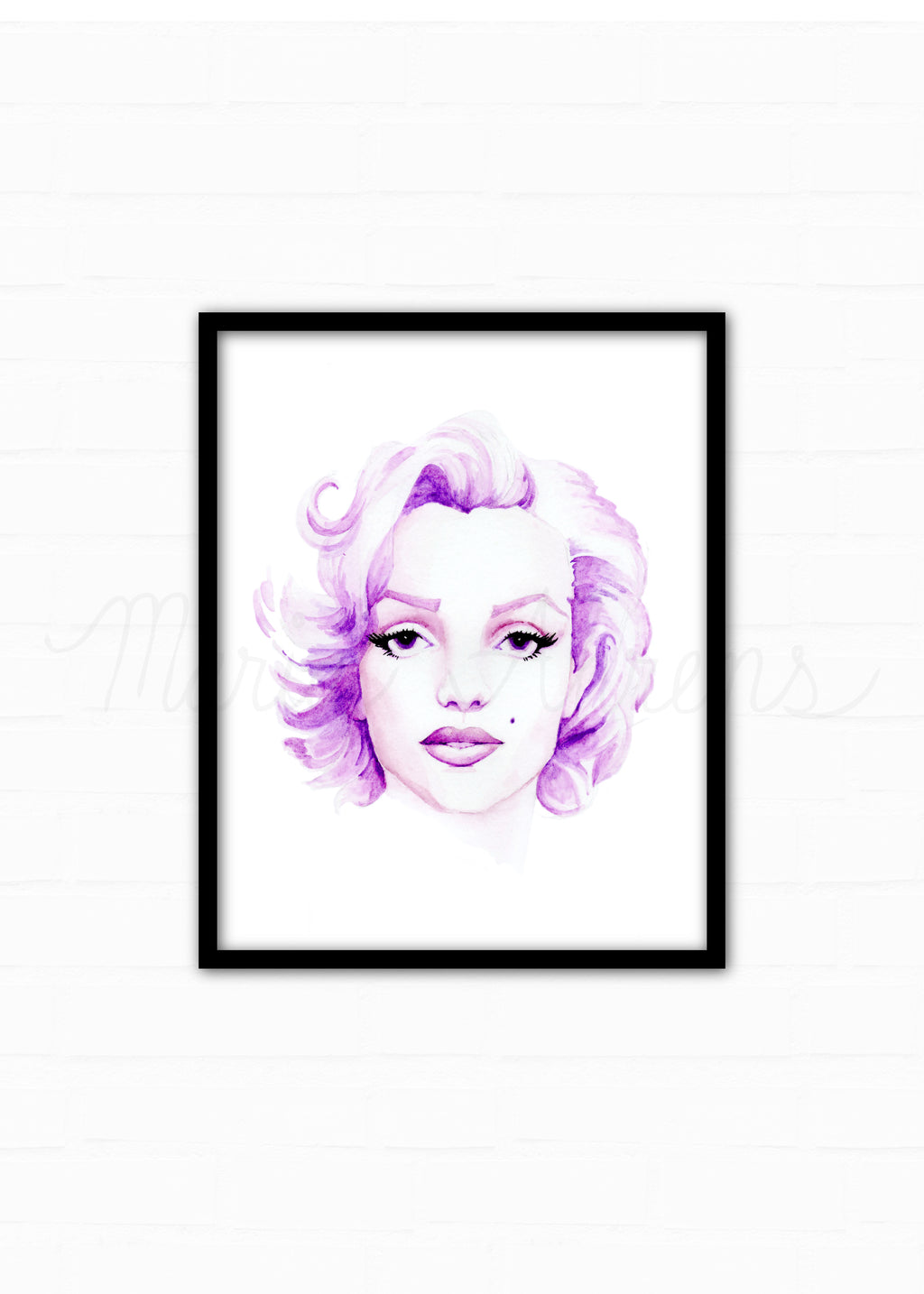 Marilyn Monroe Fashion Illustration Watercolor Print
