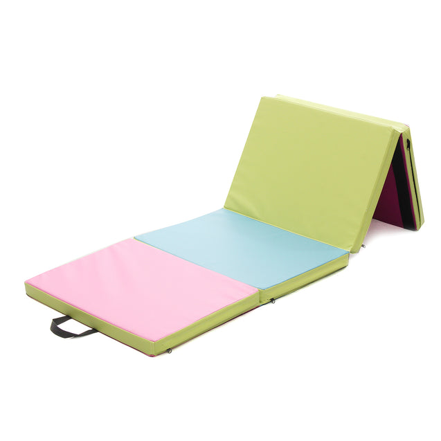 70.86x23.6x1.96inch 4 Folding Gymnastics Mat Yoga Exercise Gym Panel Tumbling Climbing Pad