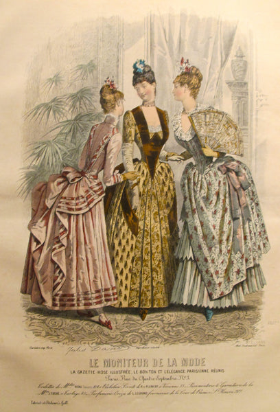 1886 Moniteur de la Mode, Parisian Ladies Fashion (Plate 7-1886)