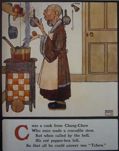 1908 British Children's Illustration, Chang-Chew Cook - Dulac