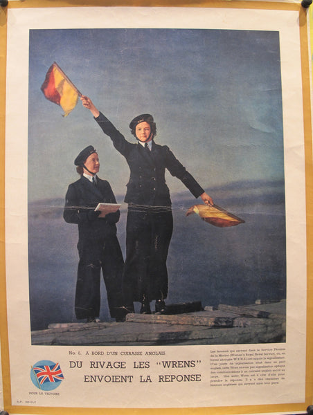 1940-1945 Original French WWII Poster, Victoire / Du Rivage