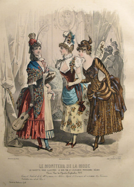 1886 Moniteur de la Mode, Parisian Ladies Fashion (Plate 1-1886)