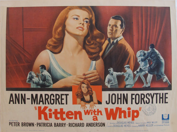 "1964 Original American Movie Poster - ""Kitten with a Whip"" with Ann-Margret & John Forsythe"