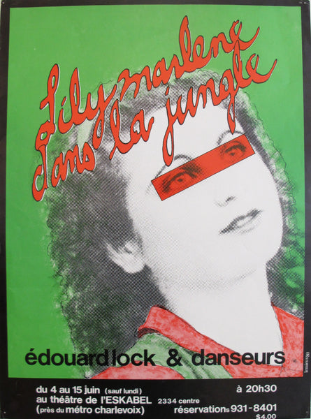 "1980 Quebec Contemporary Poster - ""Lily Marlene dans la jungle"""
