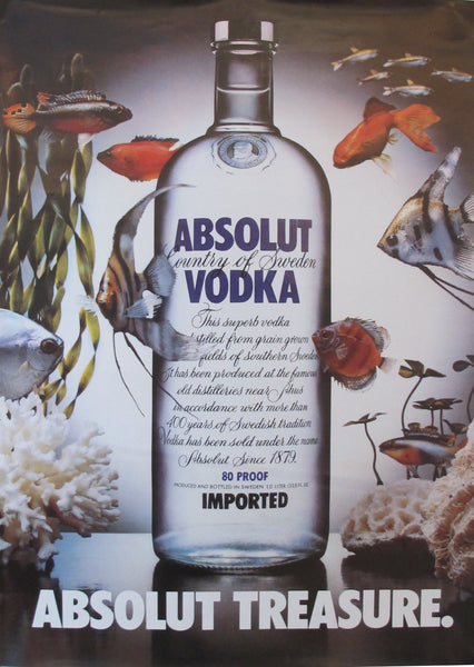 1985 Absolut Vodka Advertisement, Absolut Treasure