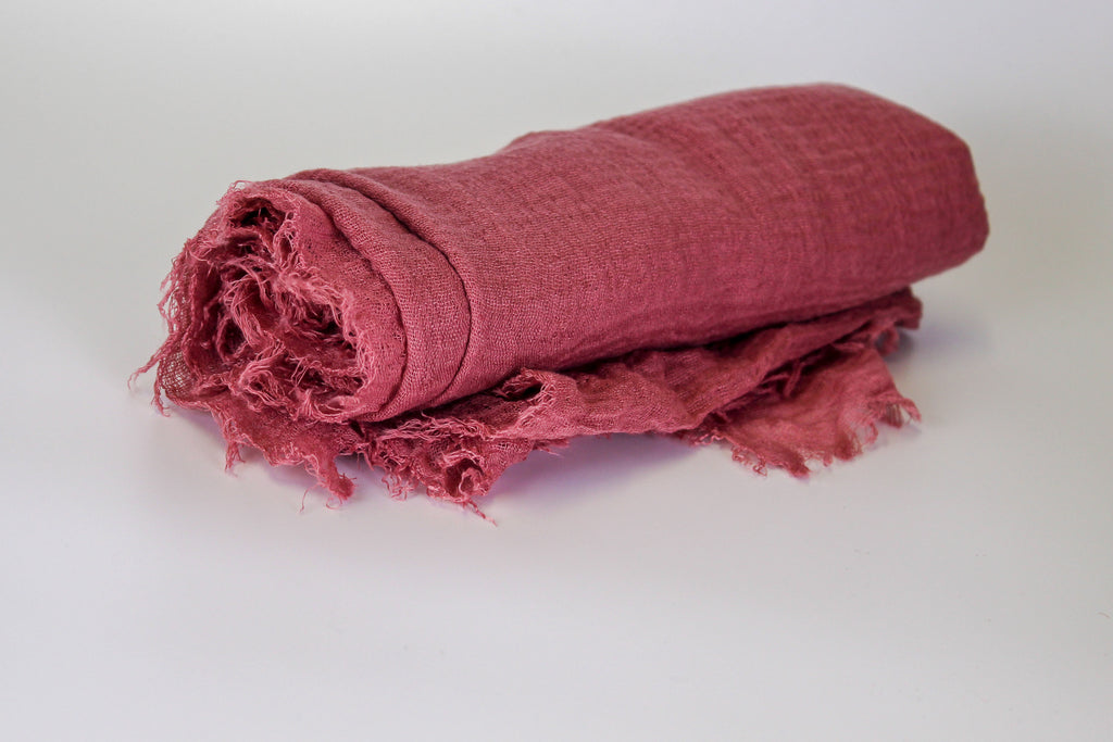 Dusty rose fringed cotton
