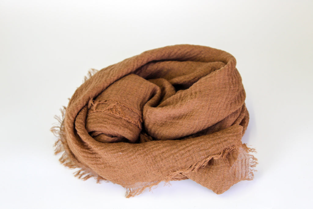 Chocolate fringed cotton