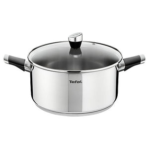 Tefal Emotion Stainless Steel Stew Pot, 24cm E8234644