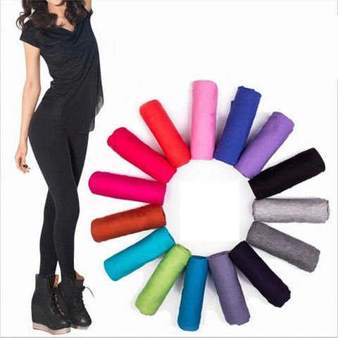 Cotton Solid Color Fitness Leggings - dealsonbox