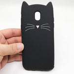 Case For Coque Samsung Galaxy J5 2017 Case Cute 3D Cartoon Cat Stitch Silicon Cover For Samsung Galaxy J3 J5 J7 2017 Pro EU Case - dealsonbox