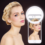 New Arrive USB Charge Selfie Portable Flash Led Camera Phone Photography Ring Light Enhancing Photography for iPhone Smartphone - dealsonbox