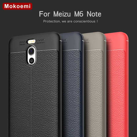 "Mokoemi Fashion Lichee Pattern Shock Proof Soft 5.5""For Meizu M6 Note Case For Meizu M6 Note Cell Phone Case Cover - dealsonbox"