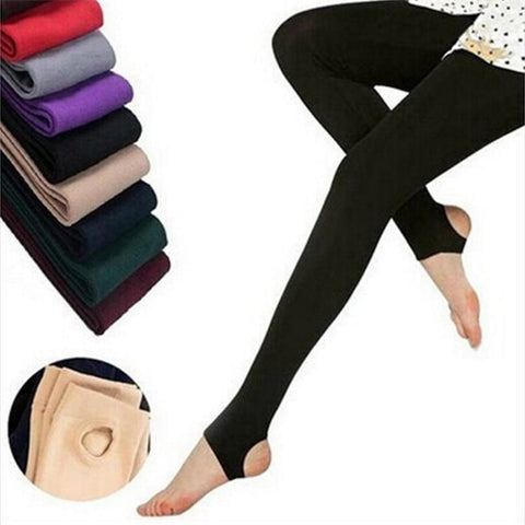 Casual Warm Faux Velvet Winter Leggings - dealsonbox