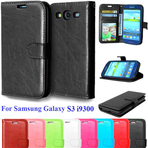 Case For Samsung Galaxy S3 Cell Phone Wallet Flip Cover For Samsung Galaxy S3 I9300 Neo i9301 Duos i9300i Vertical Phone Cases - dealsonbox