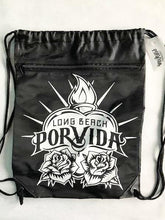 Load image into Gallery viewer, LBPV Logo White or Black  Zipper Cinch Bag