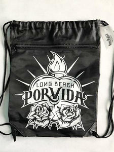 LBPV Logo White or Black  Zipper Cinch Bag