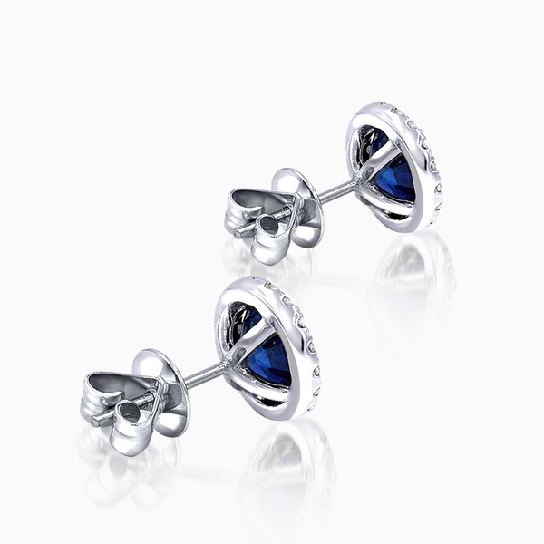 Blue Sapphire and Diamond Jacket Studs