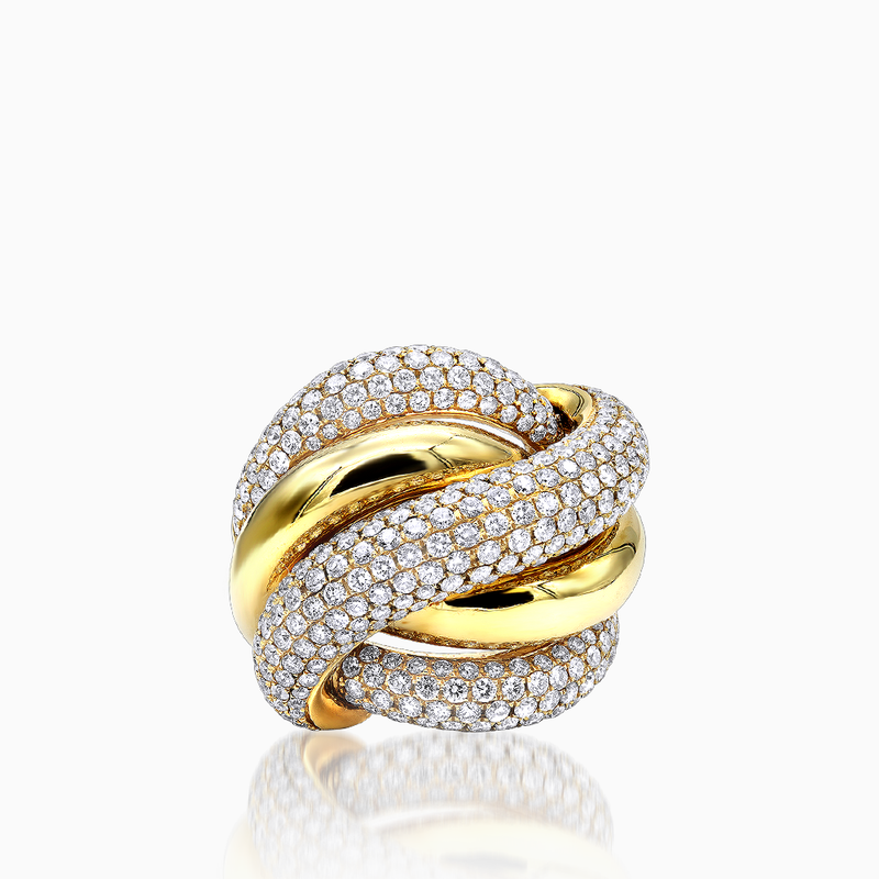 Bold Gold Love Knot Ring