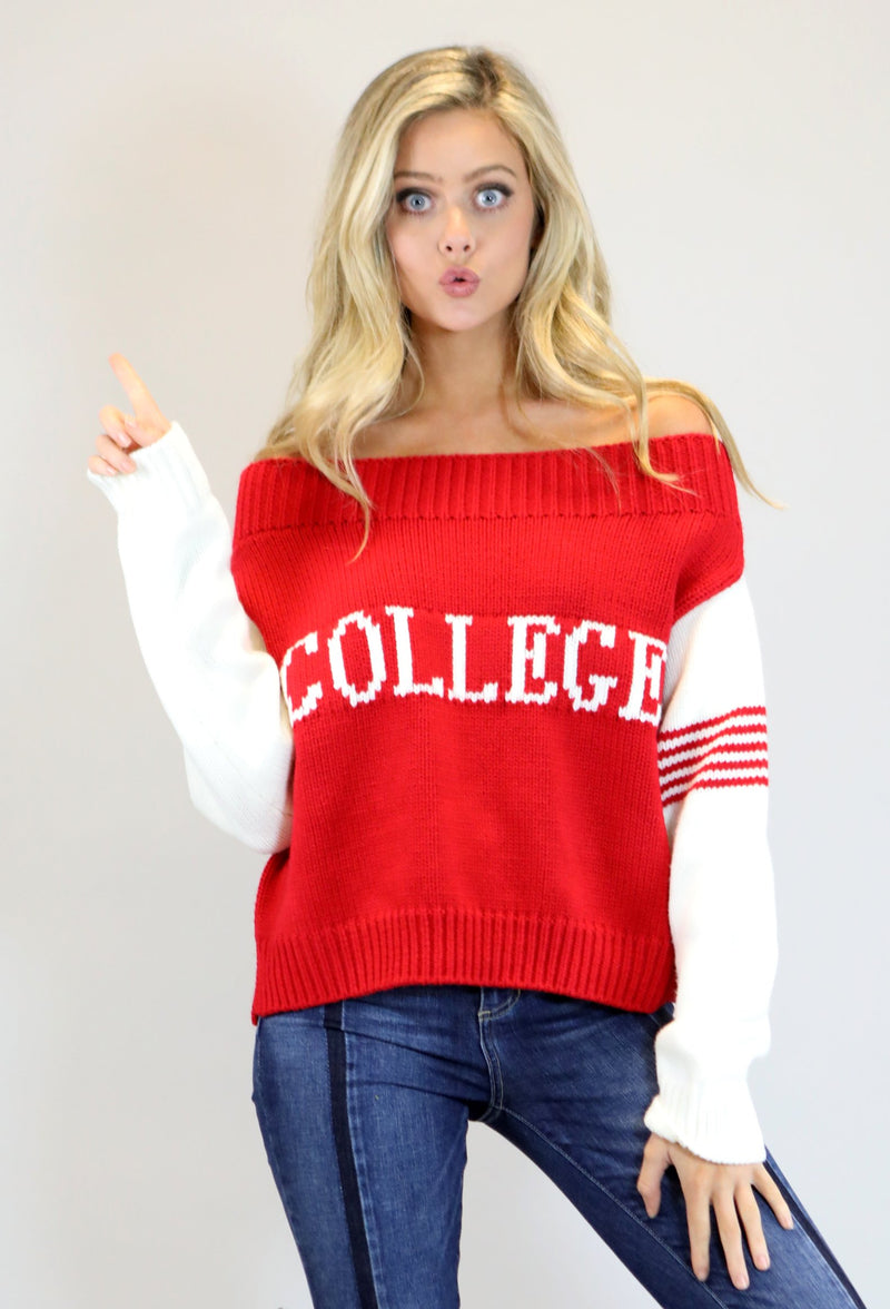 "JUDITH MARCH ""COLLEGE"" SWEATER"
