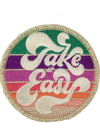 JUDITH MARCH METALLIC TAKE IT EASY PATCH - BLUE HAT