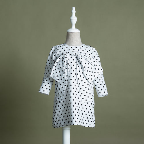 Laurel Polka Bow Dress