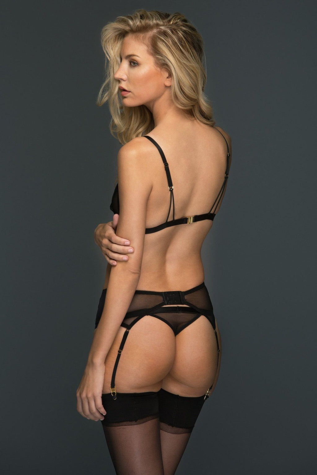 Kerry Black Lace Thong