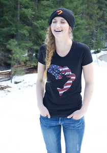 Women's Black Patriot T-Shirt