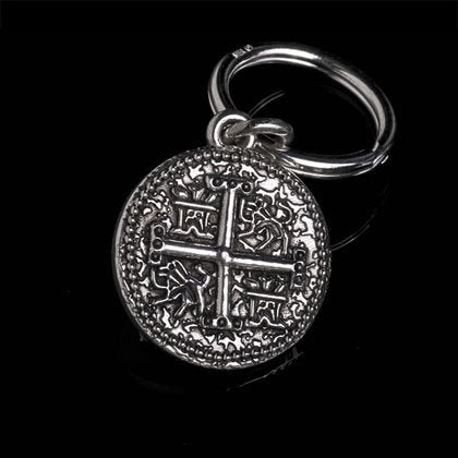 Piece-of-Eight Black Diamond Key Ring - Shano Designs