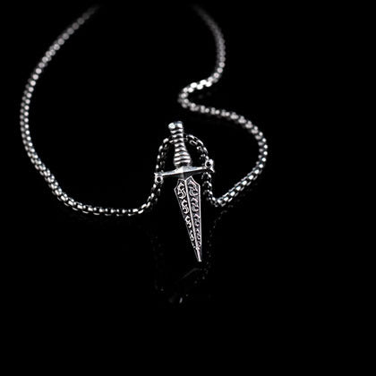 Black Diamond Dagger Pendant - Shano Designs
