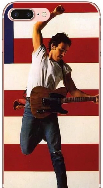 Born in the USA Bruce Springsteen Red and White Phone Case iPhone