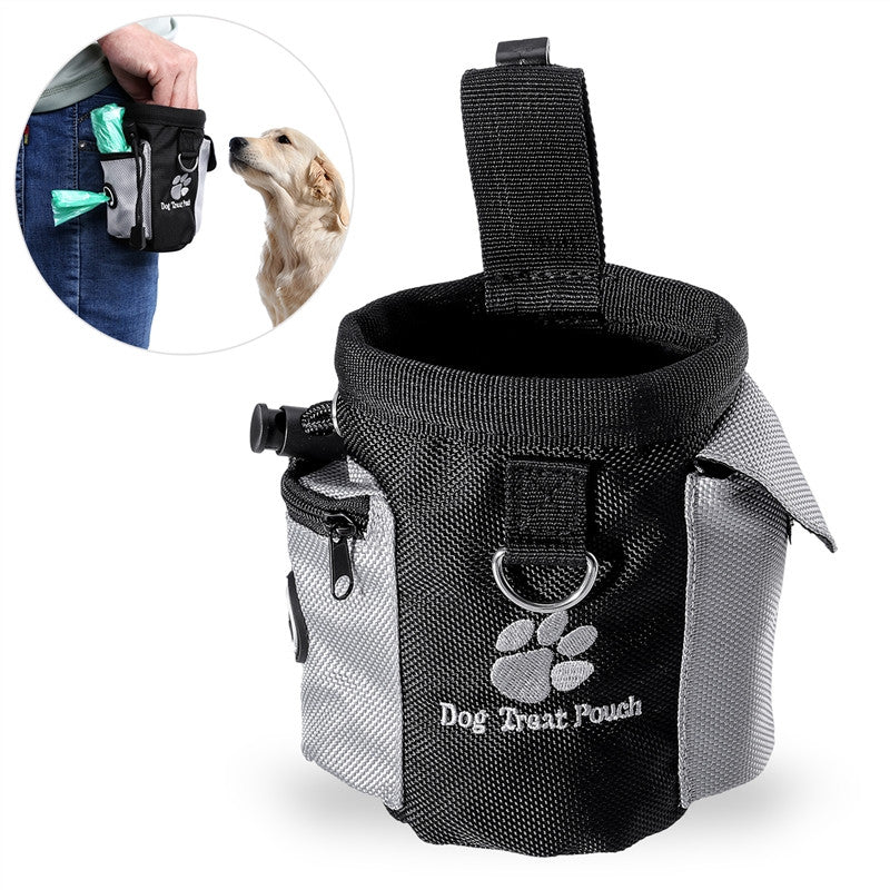 UEETEK Dog Treat Pouch Pet Hands Free Training Waist Bag Drawstring Carries Pet Toys Food Poop Bag Pouch    (AE)