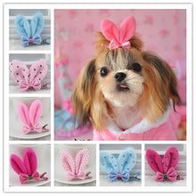 Load image into Gallery viewer, Pet Grooming Accessories  Bunny style dogs / Headwear hairpin Yorkshire flower hair clip  (AE)
