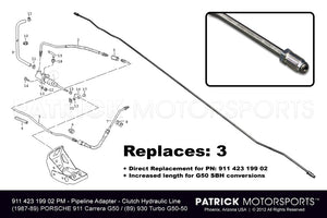 PIPELINE ADAPTER - CLUTCH HYDRAULIC LINE IN TUNNEL G50- TRA91142319902PMP