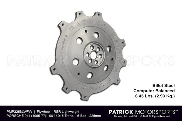 FLYWHEEL - PORSCHE 911 RS & RSR 225MM 6 BOLT CRANK - 915 901- FLW2256LWFWPMP